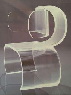 Jean Dudon; Plexiglass Side Chair, 1968