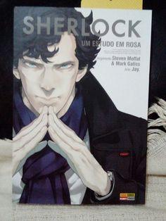 Um Estudo em Rosa Sherlock estilo mangá Ed. brasileira
