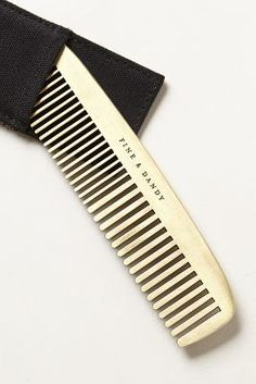 A handsome comb for a handsome man. $28