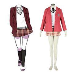 Axis Powers Hetalia Winter Female School Uniform 1ST Cosplay Costumes