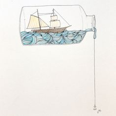 hms-surprise:Ship in a bottle.