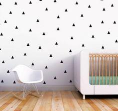 Trendy Peas Wall Decals Little Peaks Black
