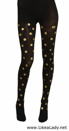 Gold dot tights - For holidays