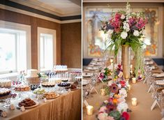 Dessert bar and head table decor - Photo by Laura Ivanova Photography