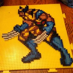 Wolverine perler beads by luckylukse