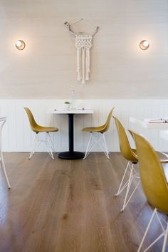 Macramé Revisted: Cafe Gratitude in Downtown LA: Remodelista