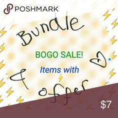 BOGO items with ⚡ Bundle items and offer the listing price of the higher priced item. I will accept. Expires on Thanksgiving! Other