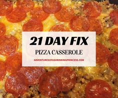 21 Day Fix Pizza Casserole