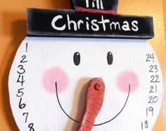 Snowman COUNTDOWN to Christmas Wall Hanging ADVENT by gr8byz