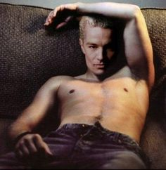 "James Marsters.  He was the best thing in ""Buffy"" and this picture is really hot."