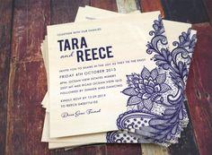 ► Invitaciones de boda de diseño personalizado. #invitaciones #bodas