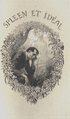 """Georges Antoine Rochegrosse (1859-1938), Illustration pour """"Les Fleurs du Mal"""" de Charles Baudelaire - 1917"""
