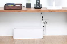 Perfect for offices or living spaces, CableBox hides clutter to create beautiful spaces