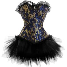 i think this blue nd gold corseted tutu is both desirable nd adorable i think ill try it