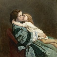 """""""Motherly Love"""" by Auguste Toulmouche."""