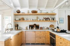 simple plywood kitchen