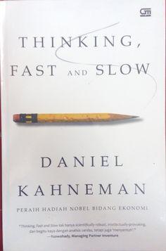 """Thinking, Fast and Slow"" Daniel Kahneman #buku #sewabuku #perpustakaan"