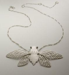 Susan Elnora: Cicada necklace