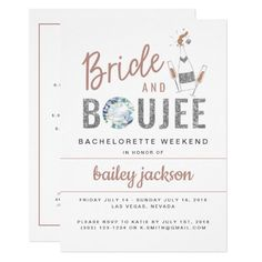 GENNA | Bride and Boujee Bachelorette Itinerary Invitation homemade invitation, personalized invitations, personal wedding invitations #invitationlayout #invitationberau #invitationbirthday, christmas decorations, thanksgiving games for family fun, diy christmas decorations