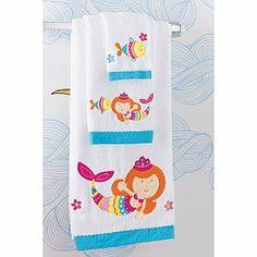 Mermaid Appliquéd Towel Set $39
