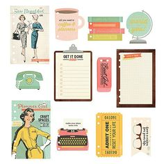 SIMPLE STORIES: CARPE DIEM The Reset Girl A5 Dashboard Inserts