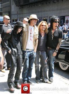 motley crue | Mick Mars, David Letterman, Motley Crue, Nikki Sixx, Tommy Lee, Vince ...