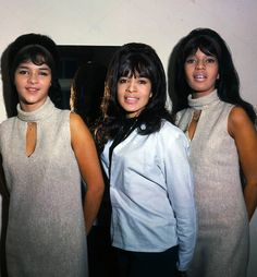 The Ronettes in 1965. From left Nedra Talley, Estelle Bennett, Ronnie Spector. Photo Tony Gale