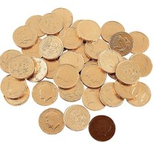 Chocolate Gold Coins - OrientalTrading.com