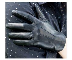 Classic Black Leather Glove