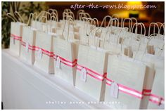 Make your #guests feel honored with a gift bag waiting for them when they check into their room. #wedding