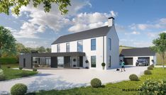 Unique House Design, Dream Home Design, House Designs Ireland, Rural House, Farm House, Self Build Houses, Two Storey House, Farmhouse Renovation, Exterior Remodel