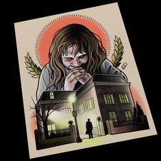 The Exorcist Tattoo Flash by ParlorTattooPrints on Etsy