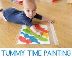 Tummy Time Painting - Mama.Papa.Bubba.