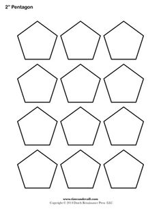 Free printable pentagon templates. Use these blank