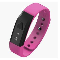 Bfj.elec. Bluetooth 4.0 Smart Bracelet Pedometer Sports Sleep Tracking Health Fitness Pedometer Incoming Call Remind for Andriod and Ios Color Pink