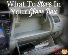 Today's mission is to declutter your glove box, plus I've provided a list of essentials and recommended items to store in your glove compartment so you have the right things with you when you need them.