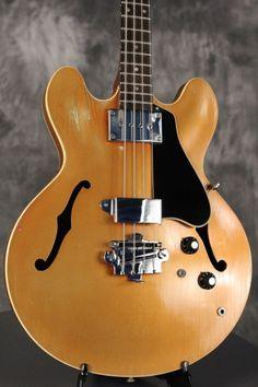 original 1967 Gibson EB-2 hollowbody Bass RARE custom color SPARKLING BURGUNDY
