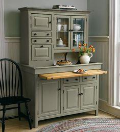 Large Conestoga Cupboard - Plow & Hearth for room above garage- mini kitchen