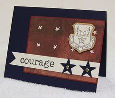 COURAGE... set of five cards for our military