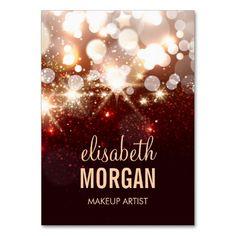 Makeup Artist - Modern Glitter Sparkle Large Business Cards (Pack Of 100)