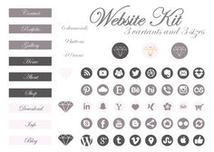 Brand Identity/Brand Kit/Logo/Business by jellyfishfish on Etsy Brand Identity, Branding, Social Media Icons, Text You, Slogan, Buttons, Kit, This Or That Questions, Website