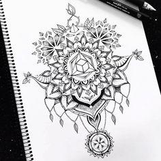 Sacred geometry neck/back tattoo design on behance mandala tattoo, tatt Full Body Tattoo, Full Sleeve Tattoos, Body Tattoos, Tatoos, Wrist Tattoos, Tattoo Knee, Back Tattoo, Tattoos Geometric, Geometric Mandala