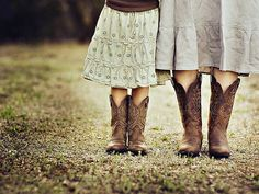 Country charm portrayed in photograph. Would be a great idea for mother and daughter picture.