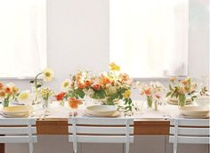 Lovely, simple table for Easter supper