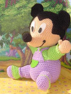 Patron de Mickey Mouse en crochet - Imagui