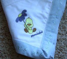 Baby Receiving Blanket Duck and Flower Umbrella