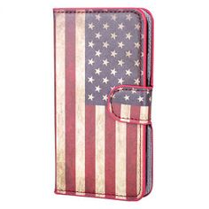 Samsung Galaxy S5 Amerikaanse vlag lederen flip cover #telefoonhoesjes #hoesjes #hoesje #accessoire #phone #case #cases