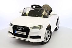 Ride on Toy Licensed Car AUDI-A3. 2016 model .Mp3 connection .12v battery.Remote control .Electric Power wheel Car.