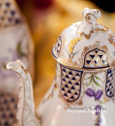 Coffee Pot of Mosaic and Flowers - MTFC pattern  Herend - Fine china