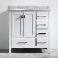 Art Exhibition white bathroom vanity inch